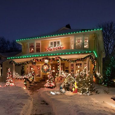 professional holiday lighting visible an ajax home after lighting installation services