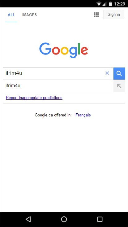 how to find itrim4u on google mobile