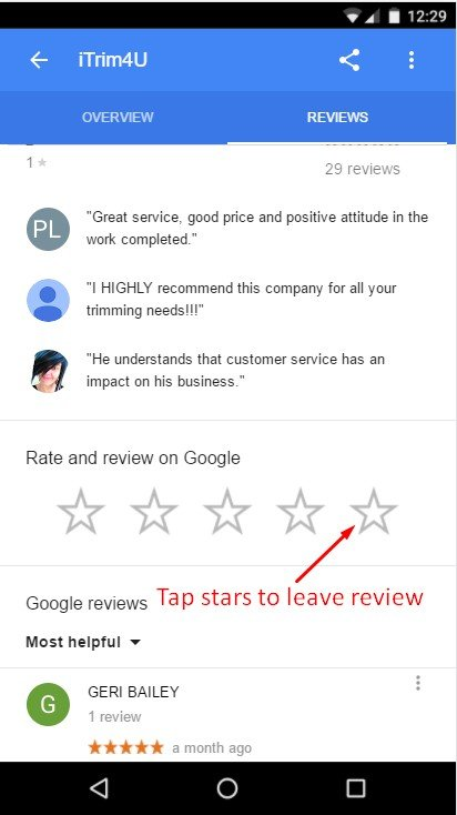 how to review itrim4u on mobile