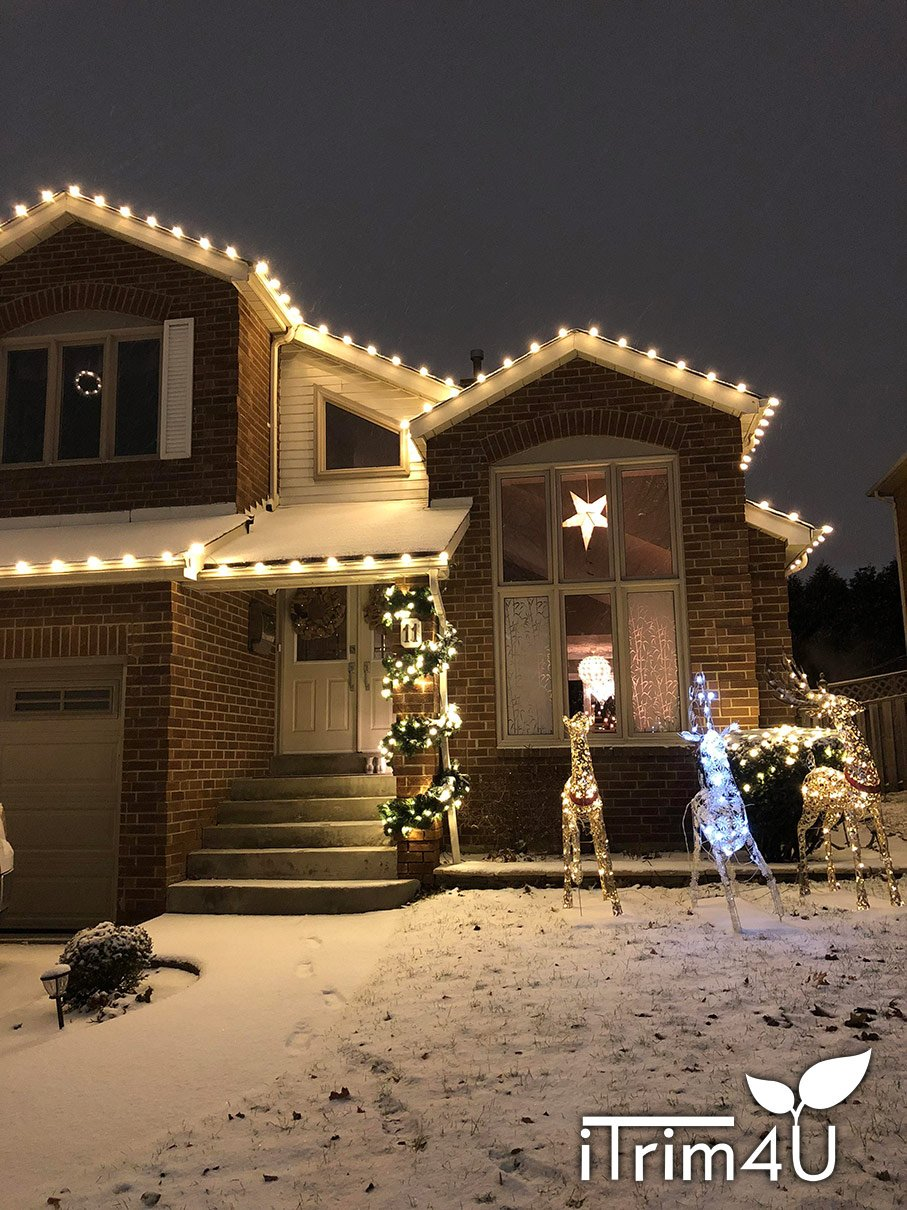 residential xmas lights installed by itrim4u